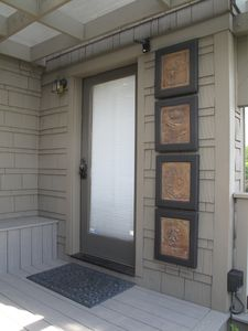 Entry door with key pad