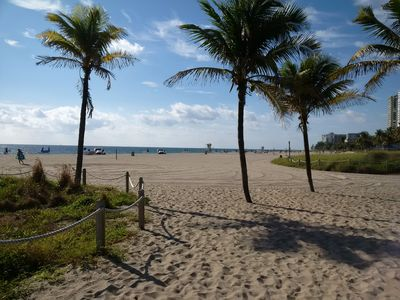Photo for Two bedroom, 2 bath ground floor unit a short walk to the beach and restaurants