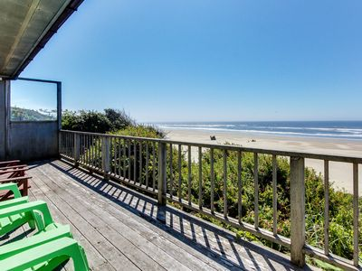Photo for Dog-friendly, oceanfront home w/ beach views & private hot tub!