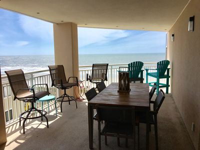 Photo for OCEANFRONT, Huge decK/Wi-Fi/FREE 2 CHR AND UMBRELLA SET UP MEM DAY-LABOR DAY