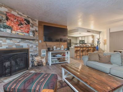 Photo for Ski in/ ski out condo at Giant Steps! Relax around the cozy fireplace (wood provided!) after a day e