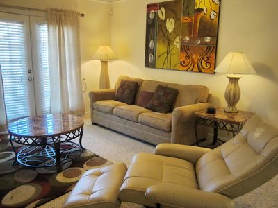 Photo for Beautiful 1 Br / 1 Ba Condo at Legacy Villas 2nd Floor Unit, attached garage