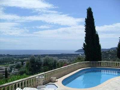 Photo for Small house with swimming pool. Fantastic panoramic sea views.