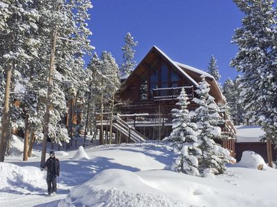 Photo for Your Mountain Log Home w/ Stunning Views: Hot Tub, Large Deck- Free Winter Night