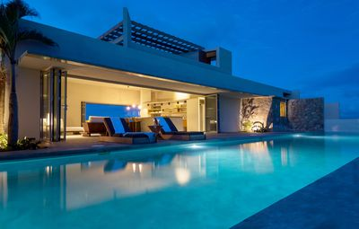 Photo for Modern Oceanfront Home with Pool, Private Tennis Court and Outdoor Showers