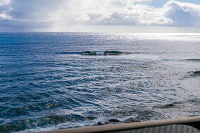 You can Watch Surfers from the Lanai