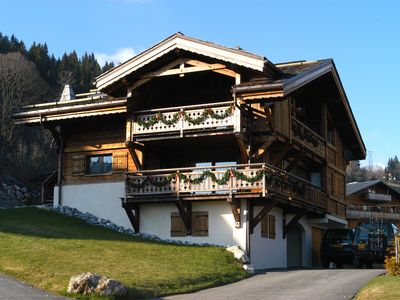 Photo for Superior Chalet in the heart of the Alpine village of Les  Gets, France