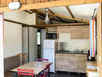Photo for Camping Huttopia Le Moulin *** - Chalet Evasion 3 Rooms 5 People
