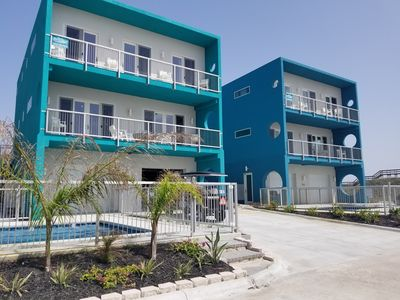 Photo for The Evelyn- On the Beach! 3 bed 4 bth w/ Elevator and private pool! Low allergen