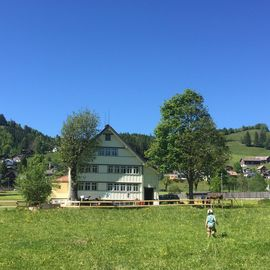 Typical Appenzellerhaus in the countryside, near the village, ideal for children, on the hiking trail