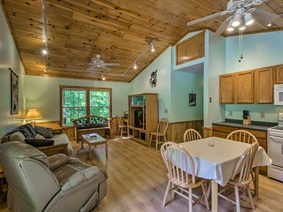 Photo for NEW! Peaceful Bryson City Cabin w/ Porch & Hot Tub