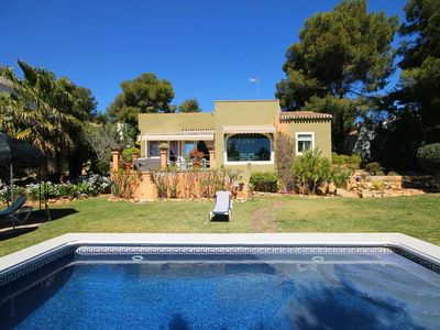 Photo for 3 bedroom Villa, sleeps 6 in Javea with Pool, Air Con and WiFi