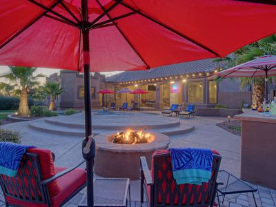 Photo for LUX, Heated Pool Option, Great City Views, Casita, Spa, Putting Green, Bikes, Pool Table