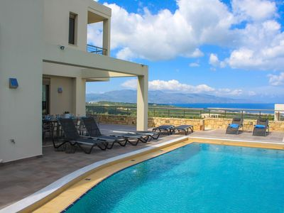 Photo for Brand-new Seaview Villa, Near to the beach in Chania