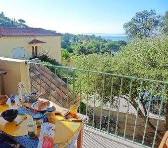 Photo for TO HAVE. THE FOSSETTE .CHARMANTE HOUSE CLIMATISEE. SEA VIEW. TERRACE. BALCONY. BARBECUE