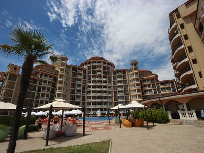 Photo for Andalucia Beach Hotel - Deluxe apartment next to the sea.
