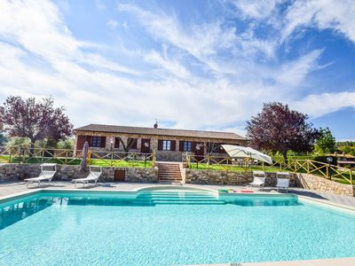 Photo for House with private pool, large garden at 6km from Todi. Panoramic views!!!
