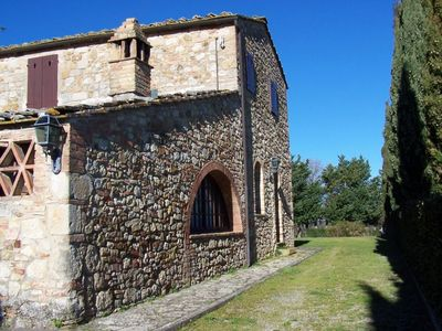 Photo for Spacious Tower Villa  apartment in San Gimignano with private terrace & private garden.