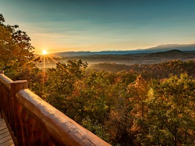 Photo for May 22-24 Opening! Mountain Playhouse  2BR, 2 Bath, Hot Tub w/ Mt LeConte view