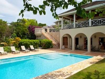 Photo for Jus' Paradise Golf Villa in Rose Hall - Ideal for Couples and Families, Beautiful Pool and Beach