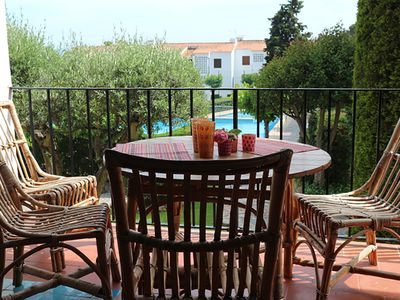 Photo for Apartment in Calella, in residence with pool and tennis