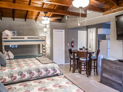Photo for LakeTravis 6 guest Bungalow 3: Free waterpark, walk to dining,marina,lake&b