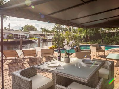 """Photo for Stunning Waterfront """"Casa Del Sol"""" in Wilton Manors Fort Lauderdale"""