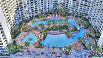 Photo for Beautiful Two Bed Three Bath at Shores of Panama with Breathtaking Gulf Views!
