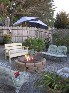 Enjoy the company of friends and family around our gas fire pit.