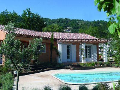 Photo for Luxury villa with private pool and spa on a spacious park near Callian