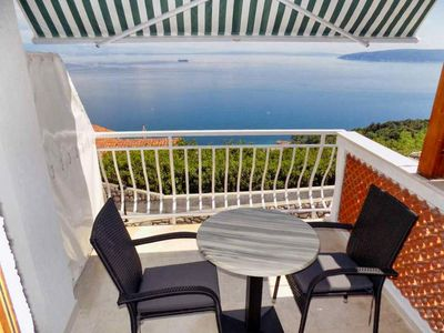 Photo for Studio flat with terrace and sea view Mošćenice (Opatija)