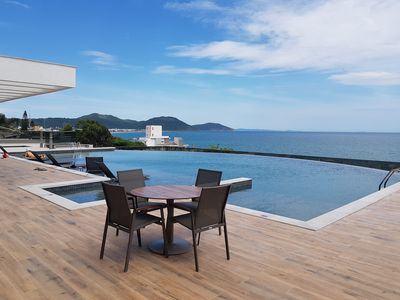 Photo for High Standard Apt 20mt from the Sea, Infinity Pool in Closed Condominium