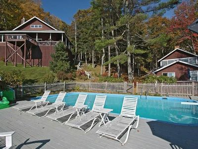 Photo for Waterfront Cabin with In-ground Pool, Dock, and Tennis