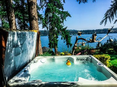 Photo for This Whidbey Island  waterfront vacation home is your own private resort.