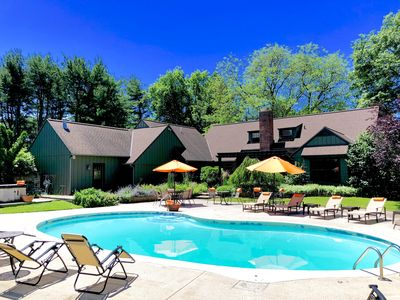 Photo for ALLEGAN ACRES Private 3 Acres,Pool,HotTub,Fireplace,FirePit,PingPong,Games,Beach