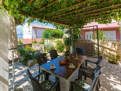 Photo for Two bedroom apartment with terrace and sea view Crikvenica (A-5585-a)