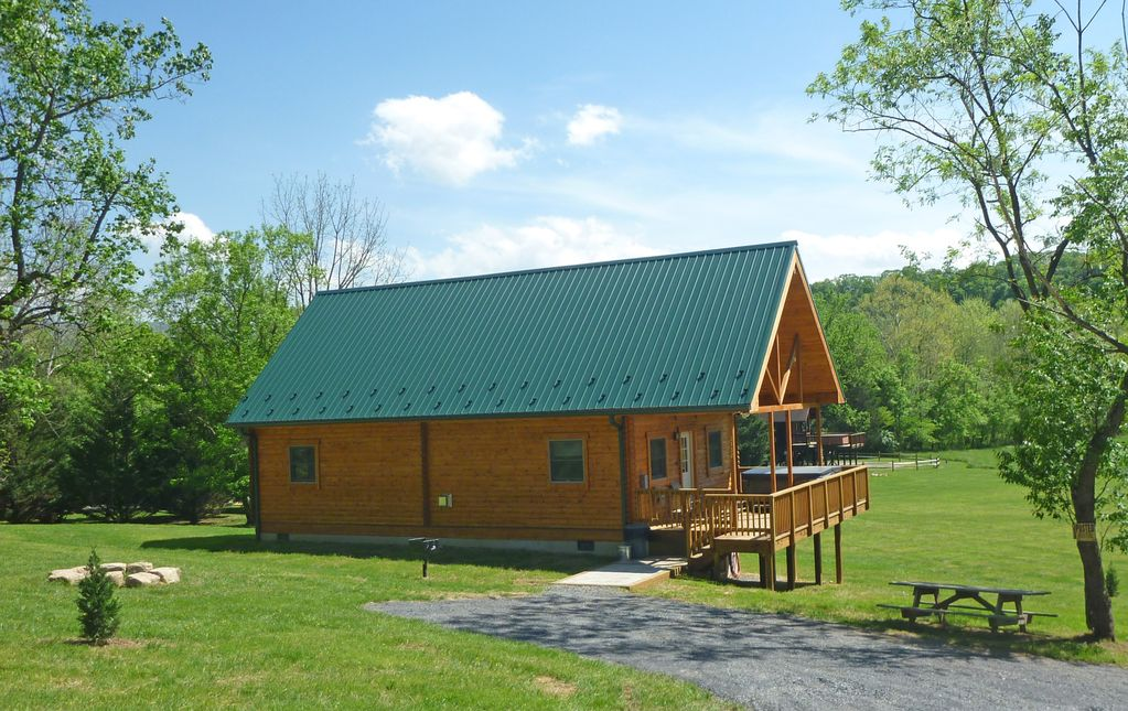 New log cabin by the river perfect relaxing retreat view for River view cabins