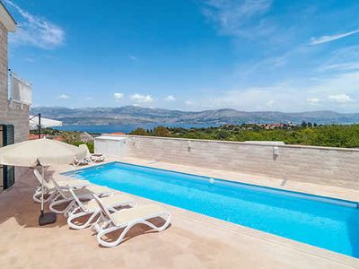 Photo for Air-conditioned sea view modern villa with private pool, Wi-Fi & BBQ