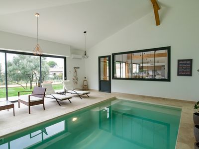 Photo for L Oulivastre: Villa with indoor pool