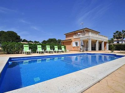 Photo for VILLA SOL- Villa with private pool in Cala Pi.  Children welcome TV. Barbecue. Majorca -107686- - Free Wifi