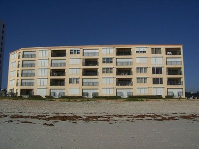 Our small (25 unit) oceanfront complex, seen from the beach