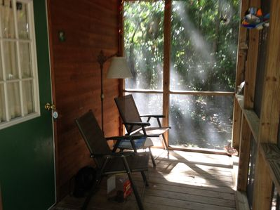 screened porch-relax and watch birds/wildlife
