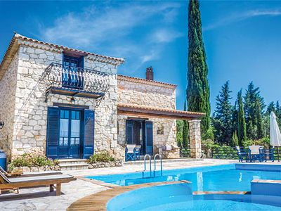 Photo for A charming villa for a peaceful holiday by the pool, or exploring the local quiet bays and villages.