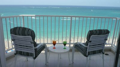 Photo for Beachfront Million View! ~Best Beach! ~ NEW AC ! ~ Marbella Del Caribe West