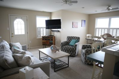Living room with smart HD TV