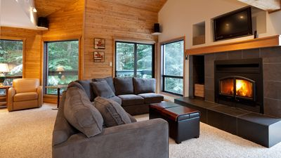 Relax by the Gas Fireplace and Flat Screen TV