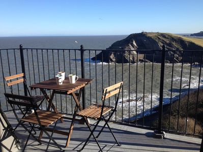Stunning views of the coast and Ilfracombe from our balcony and apartment window