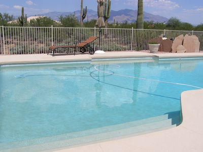 View of the Catalina Mountains from the pool area