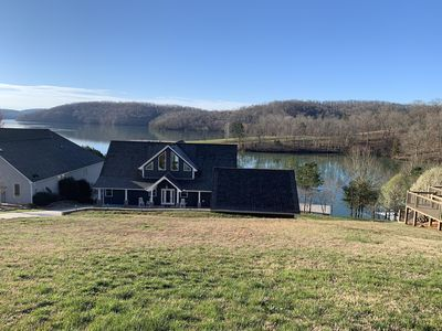 Photo for BRAND-NEW Rental with private 2 level Dock w/slide, fire pit, excellent lake vie