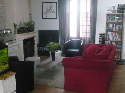 Photo for Charming old house in the center of Saintes WIFI, TV, C +, animals ok